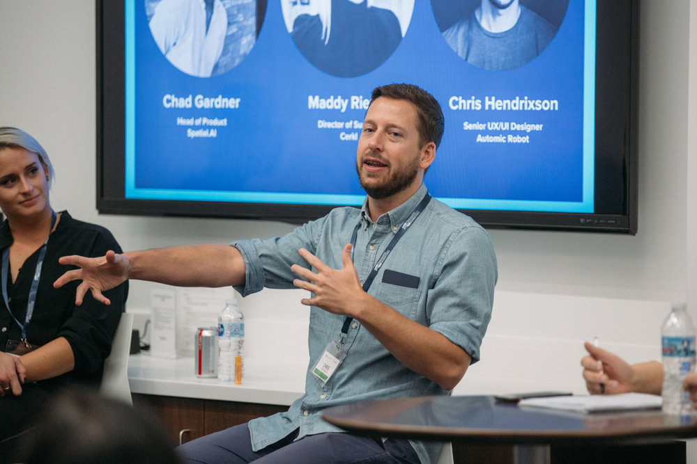 ProductCamp Cincinnati Chris Hendrixson Speaking.JPG