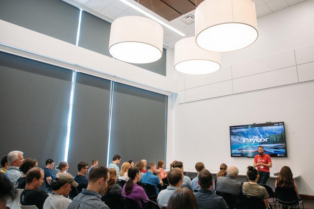 ProductCamp Cincinnati Zachary Hensley Speaking Audience.JPG