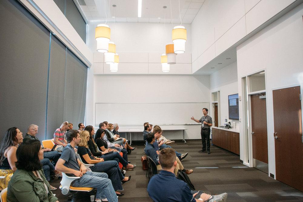 ProductCamp Cincinnati Clifford Adams Speaking Audience Side.JPG