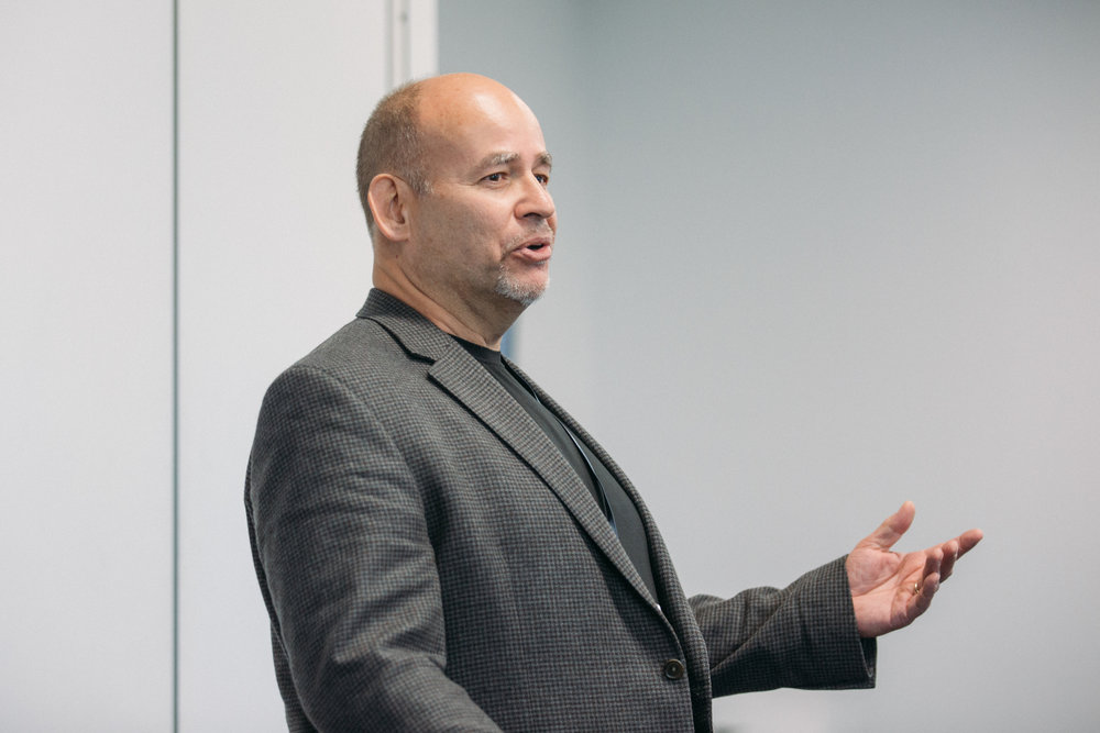 ProductCamp Cincinnati Chuck Libourel Speaking.JPG