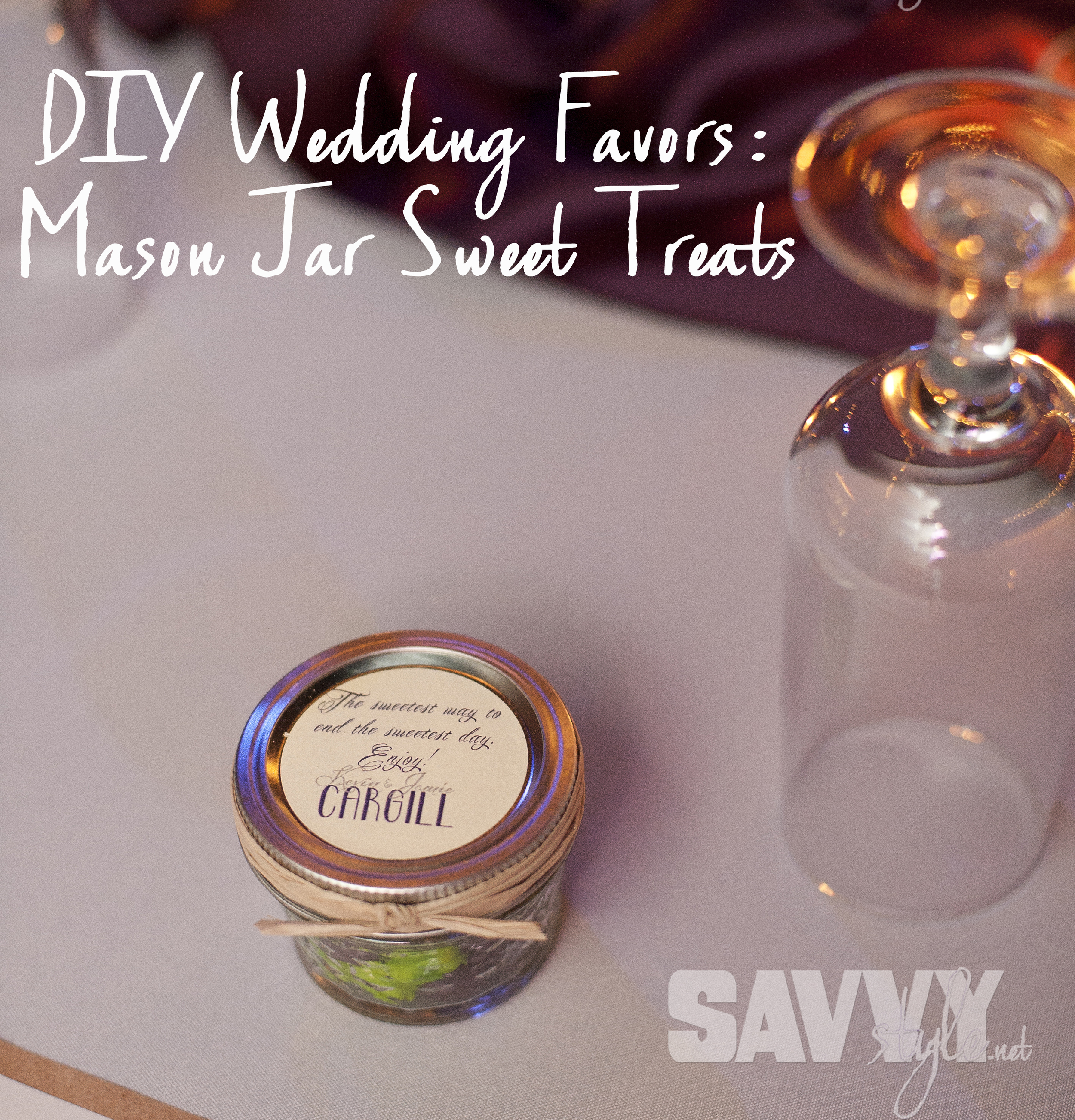 Diy Mason Jar Wedding Favor Treats Sweetwood Creative Co Atlanta Wedding Planner Upscale Event Design