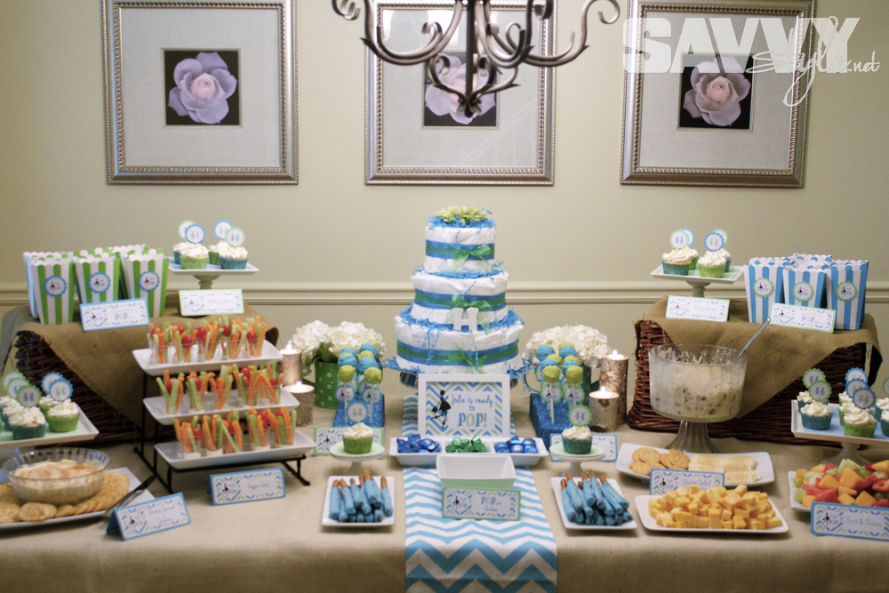This Super Simple Diaper Cake Makes A Great Gift (and  Centerpiece)...tutorial Located HERE! Want An Easy And Inexpensive Way To  Display Your Cake Pops And ...