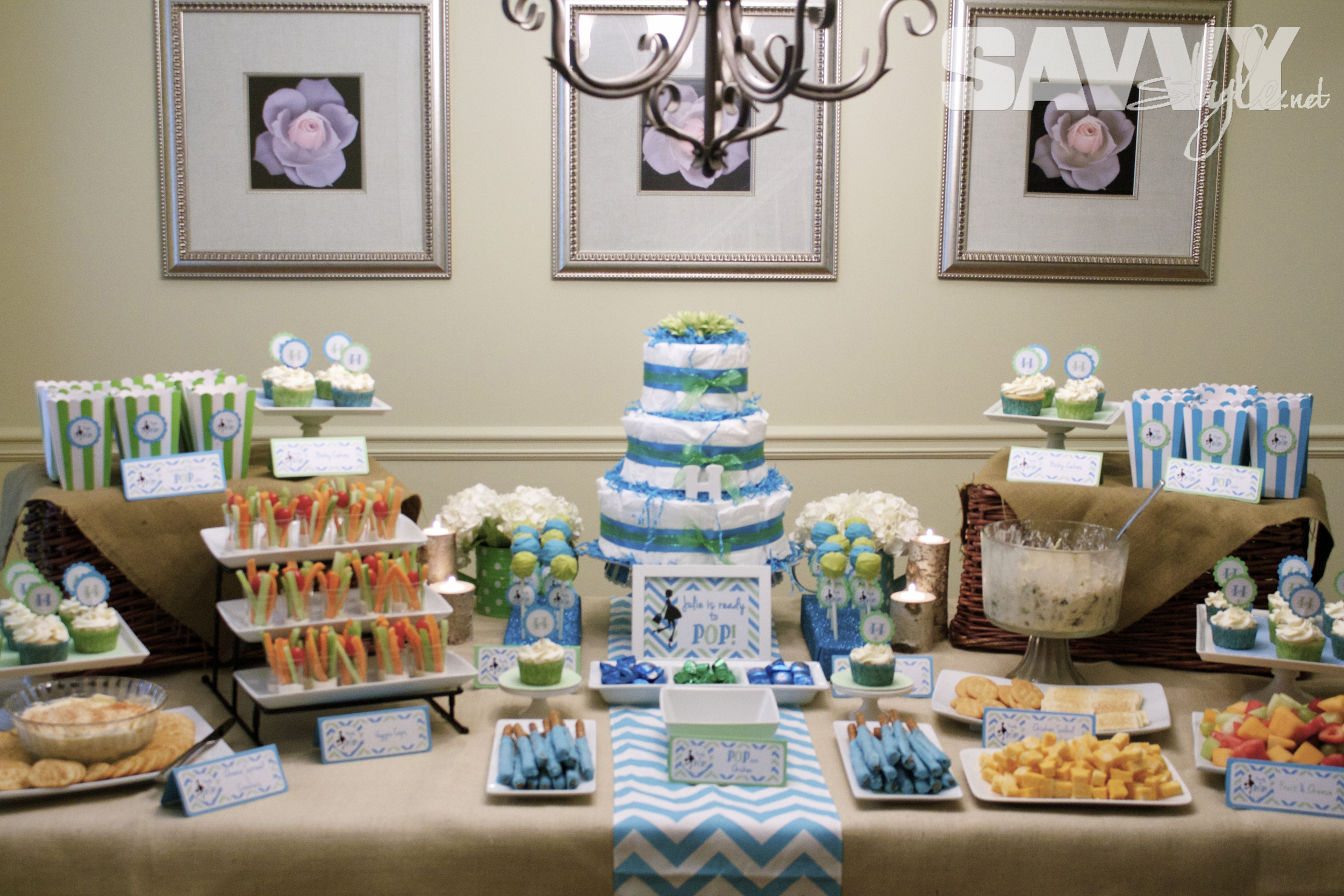 "Ready to Pop"" Baby Shower Sweetwood Creative Co"