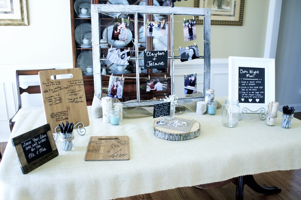 bridal-shower-display