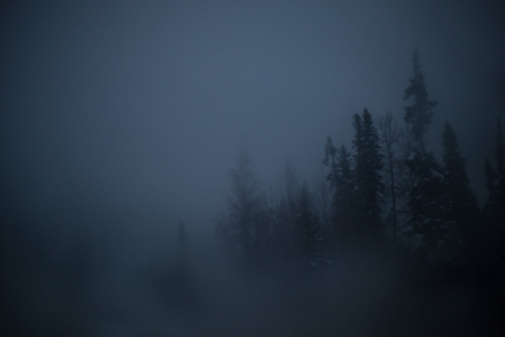 This was taken in the early morning hours. Fogging the window can make for some interesting effects.