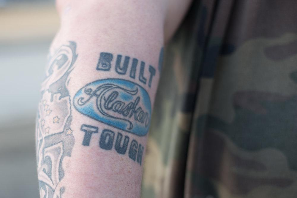Brandon's tattoo. Alaskans are tough!