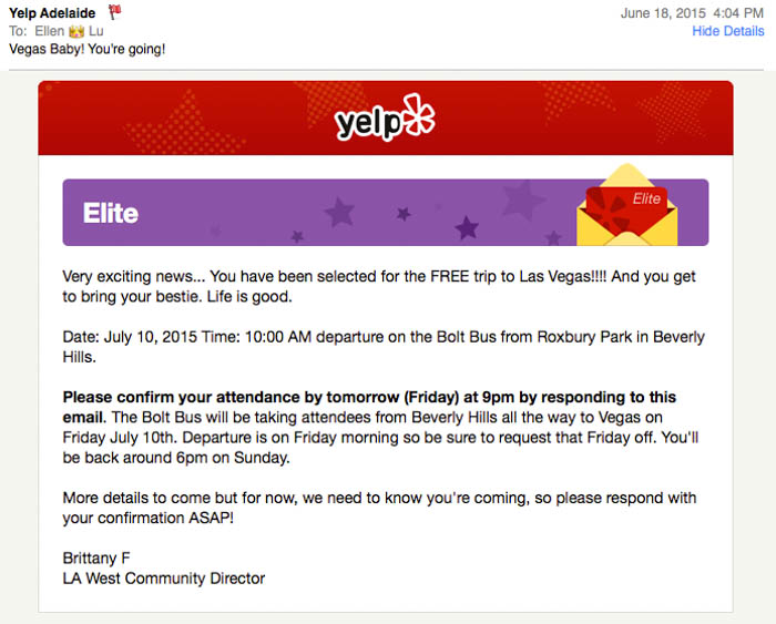 Yelp Elite LA