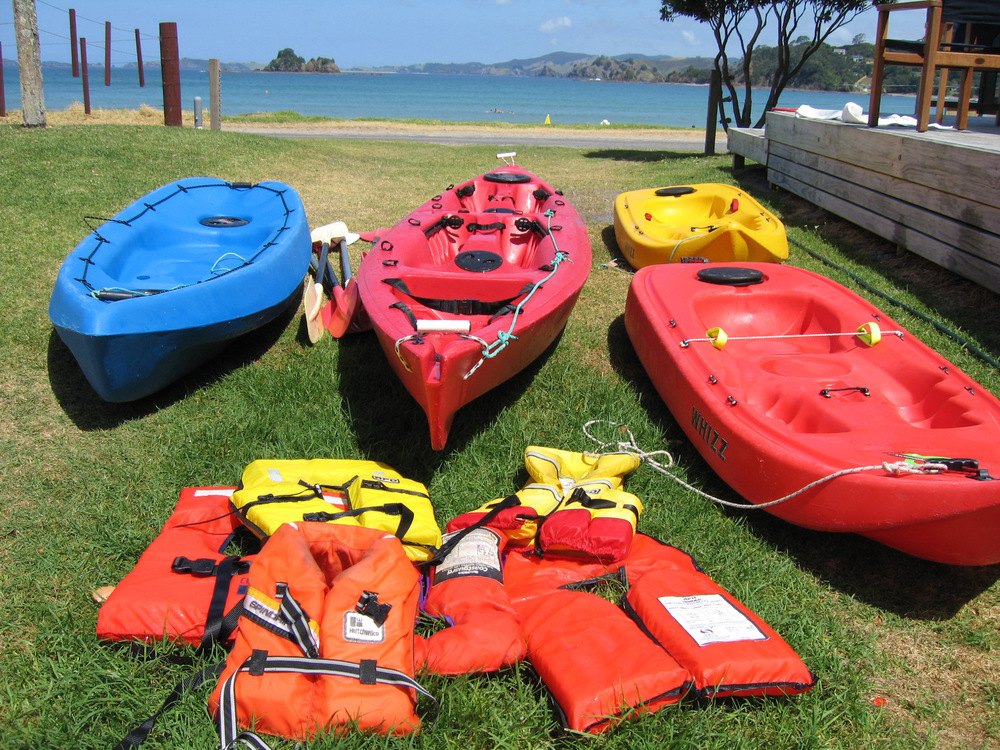 4 of the 8 kayaks we have available