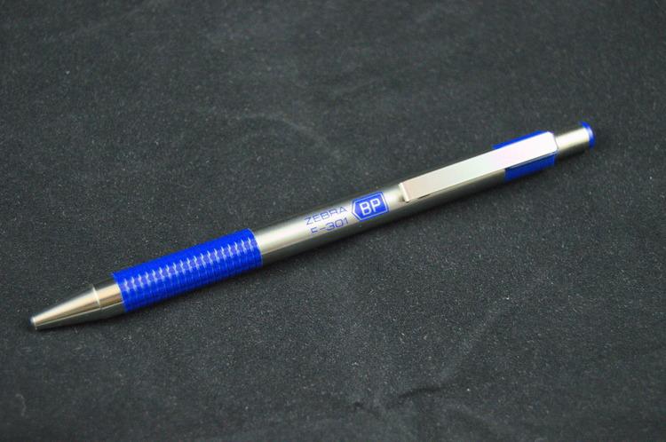 Zebra Pen F-301 Ballpoint Pen - Blue