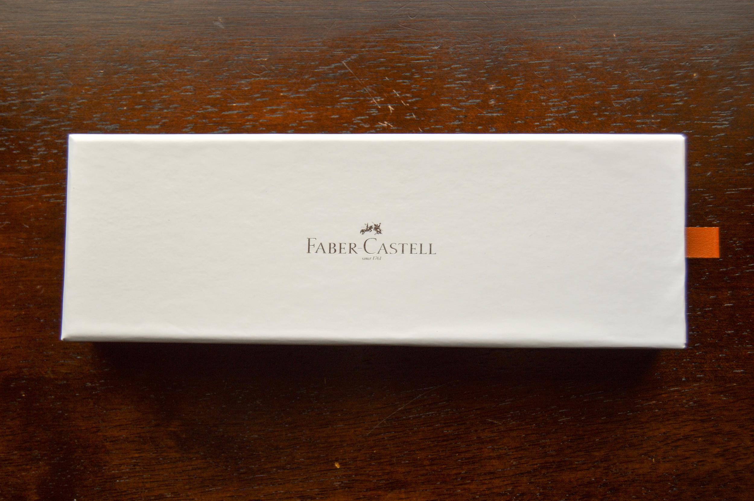 Top of the box with Faber-Castell logo
