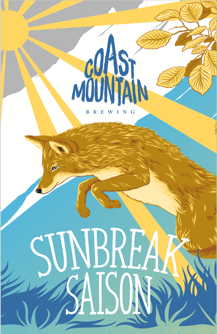 Sunbreak is a French Farmhouse Saison boasting flavours light in body and somewhat fruity given from the hops that suggest berry, orange peel, lime, papaya, pine and fresh peppers. We love Saisons here at Coast Mountain, and know you will too.