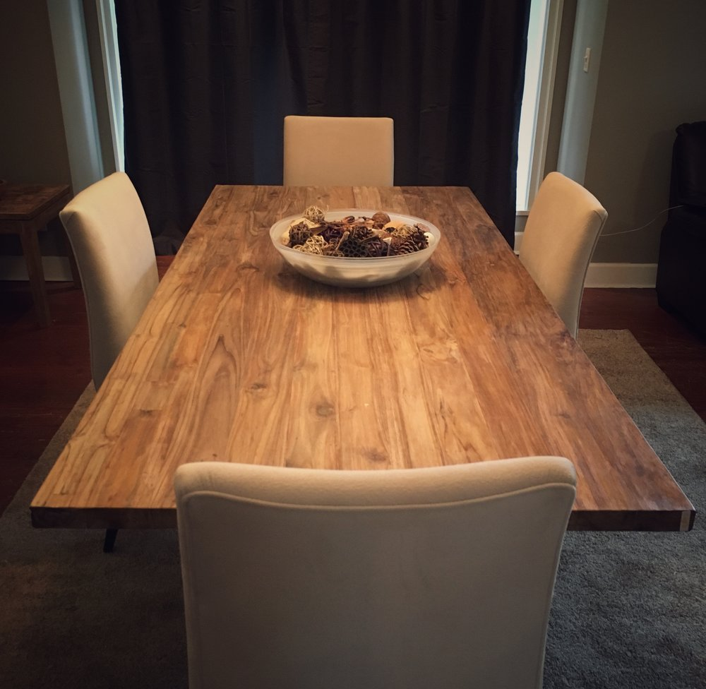 Reclaimed Teak Dining Table Imported Pieces Leading Edge Wood