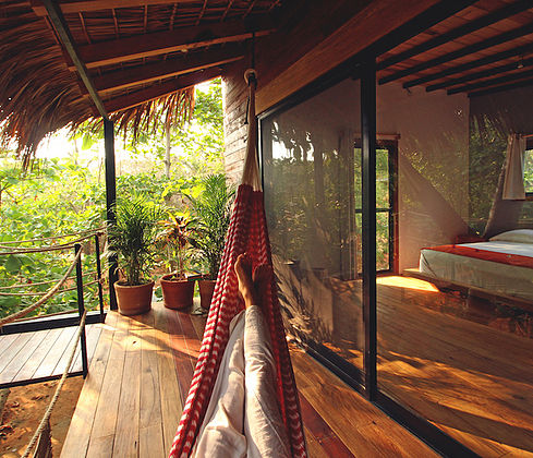 You'll feel like you are relaxing in a treehouse in paradise.
