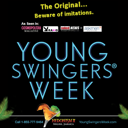 """Young Swinger's Week - We always get asked… """"What is the best time for us to go to Hedo for young couples?"""". I always say that you are as young as you feel, and some of us never grow up, but this week has some of the youngest couples, on average, you'll find at Hedo."""