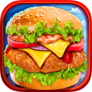 Fast Food Burger Kitchen Chef - With warm, juicy meat, gooey melt-in-your-mouth cheese, and crisp lettuce and veggies, a hamburger always hits the spot. It's the perfect finger food that fills you up and never lets you down!