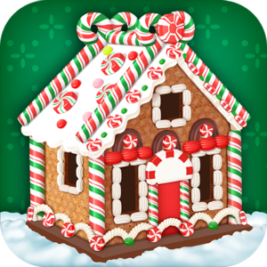 Candy House Maker - Kids Cooking Game - Sugar and Spice and everything nice! Make delicious candy house! Decorate it with Candy Canes! Peppermint Candies! Chocolate Chips! Frostings! Gum Drops!