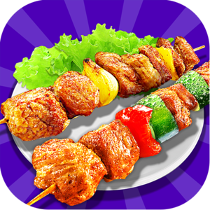 BBQ Maker - Barbeque Fun! - Chicken Skewers, Stick, Lamb Chops, Sausage…Feeling hungry? Now come to our BBQ Party! Food is waiting!