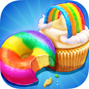 Rainbow Cake Bakery - Tah-Daaah! Welcome to the Rainbow Cake Bakery Shop! Here we can make various rainbow desserts together! Such as rainbow donuts, rainbow cupcake, and my favorite rainbow shortcake!