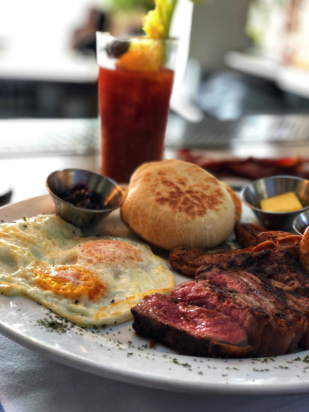 Steak and eggs never looked so good.