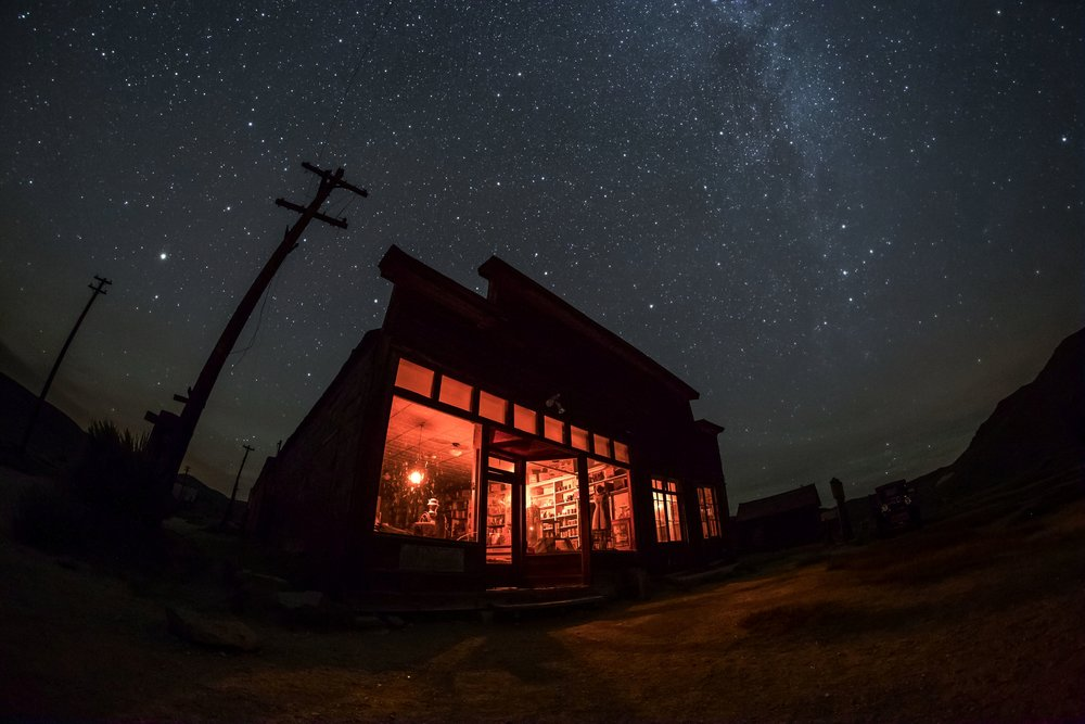 Bodie, California, is a ghost town frozen in time, giving us a glimpse of Gold Rush night skies.