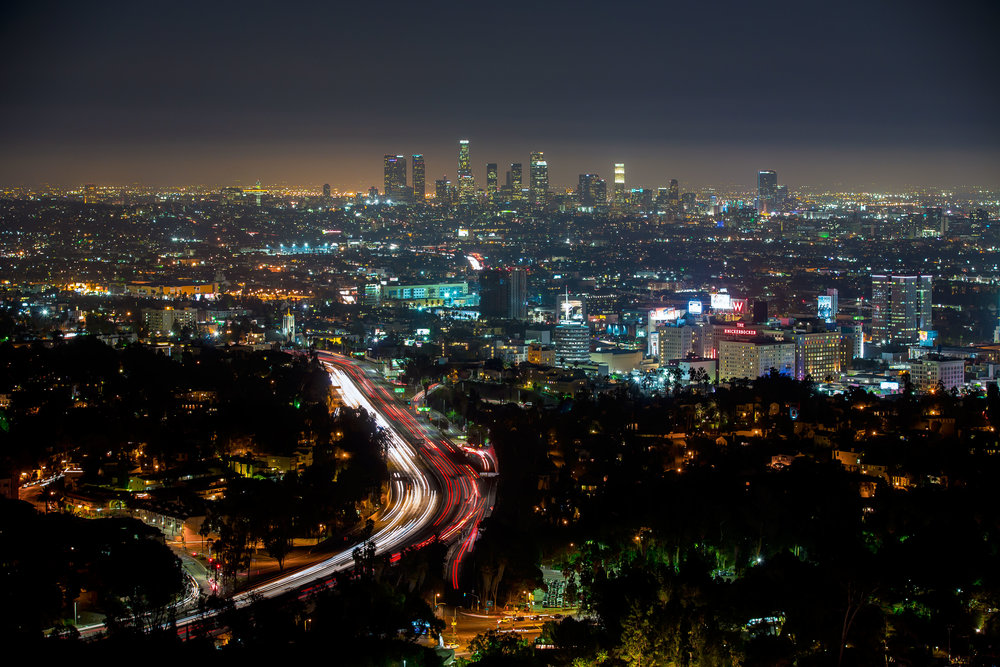 Los Angeles, California is one of the most light polluted cities in the world.