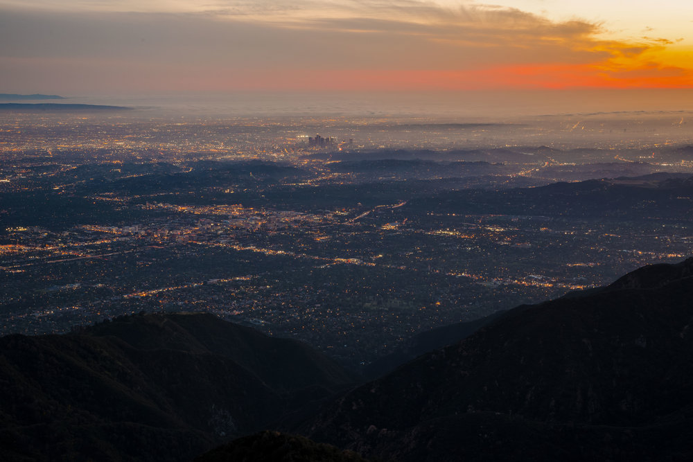 SKYGLOW SUNSET | Los Angeles, California| BUY PHOTO PRINT