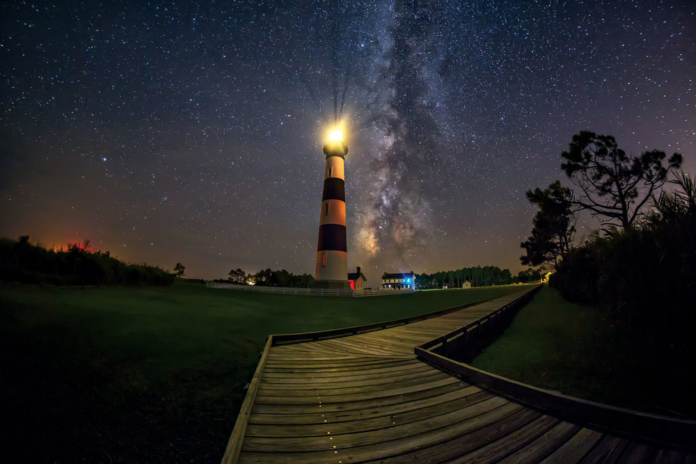 STARSCAPE HATTERAS | Bodie Island Lighthouse, North Carolina| BUY PHOTO PRINT