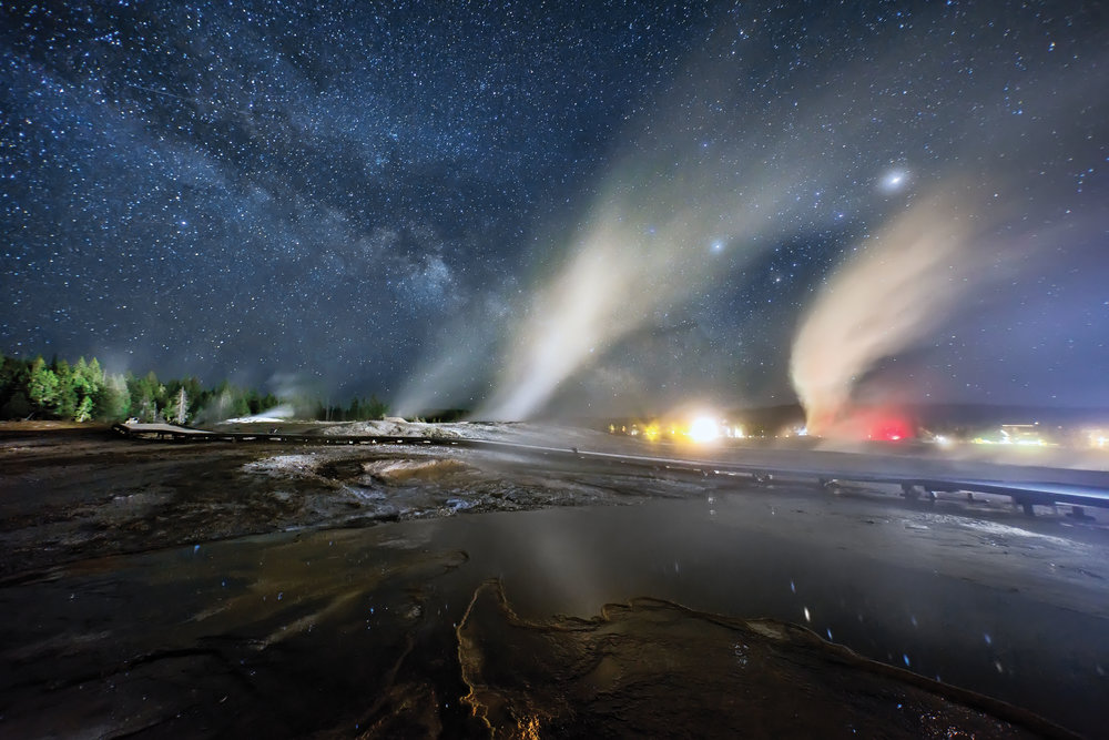 Time-lapse video by Harun Mehmidinovic of Yellowstone Park.