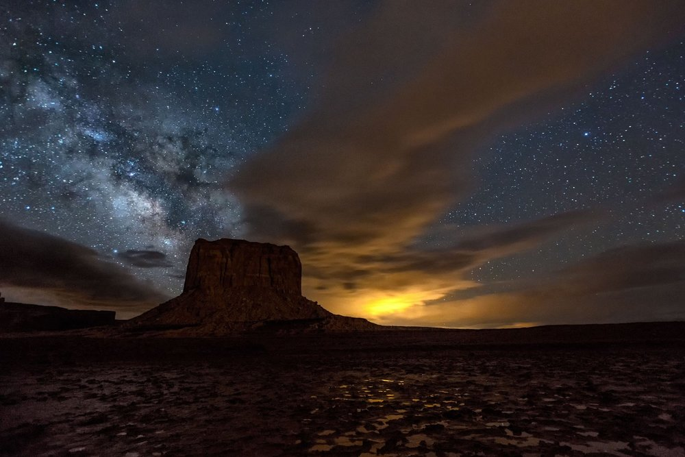 Time-lapse animation: The Milky Way over Arizona.