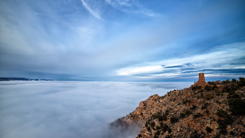 A Cloud 'Tide' Fills the Grand Canyon in Gorgeous Time-Lapse Video