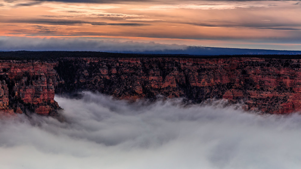 Stunning viral video shows Grand Canyon filled with ocean of clouds