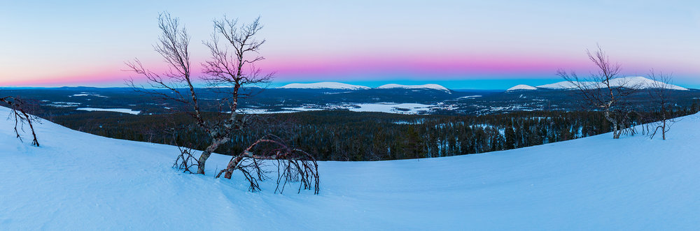 Twilight Fells   Kuertunturi, Pallas-Yllästunturi National Park, Finland - 2017