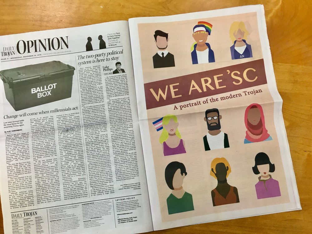 """""""We Are 'SC"""" cover design for Diversity supplement issue  (Designed with Adobe Photoshop and Illustrator)"""