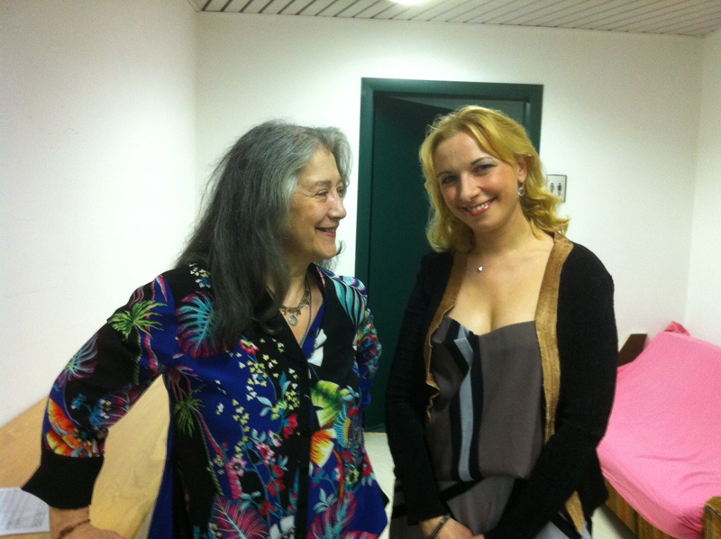 with Martha Argerich
