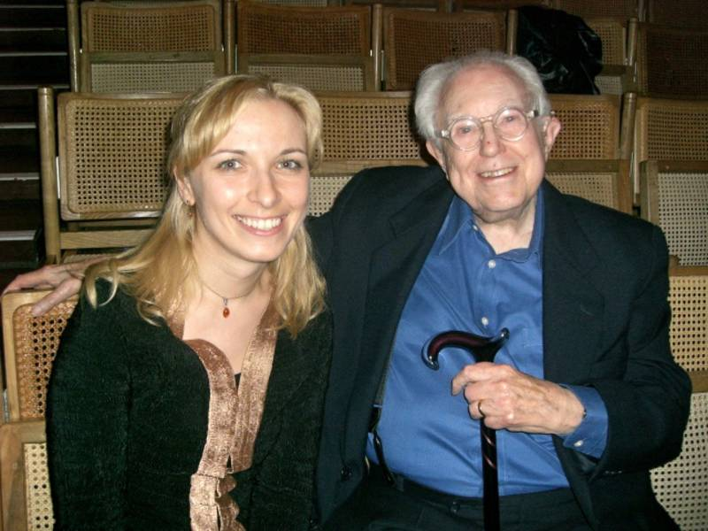 with Elliott Carter