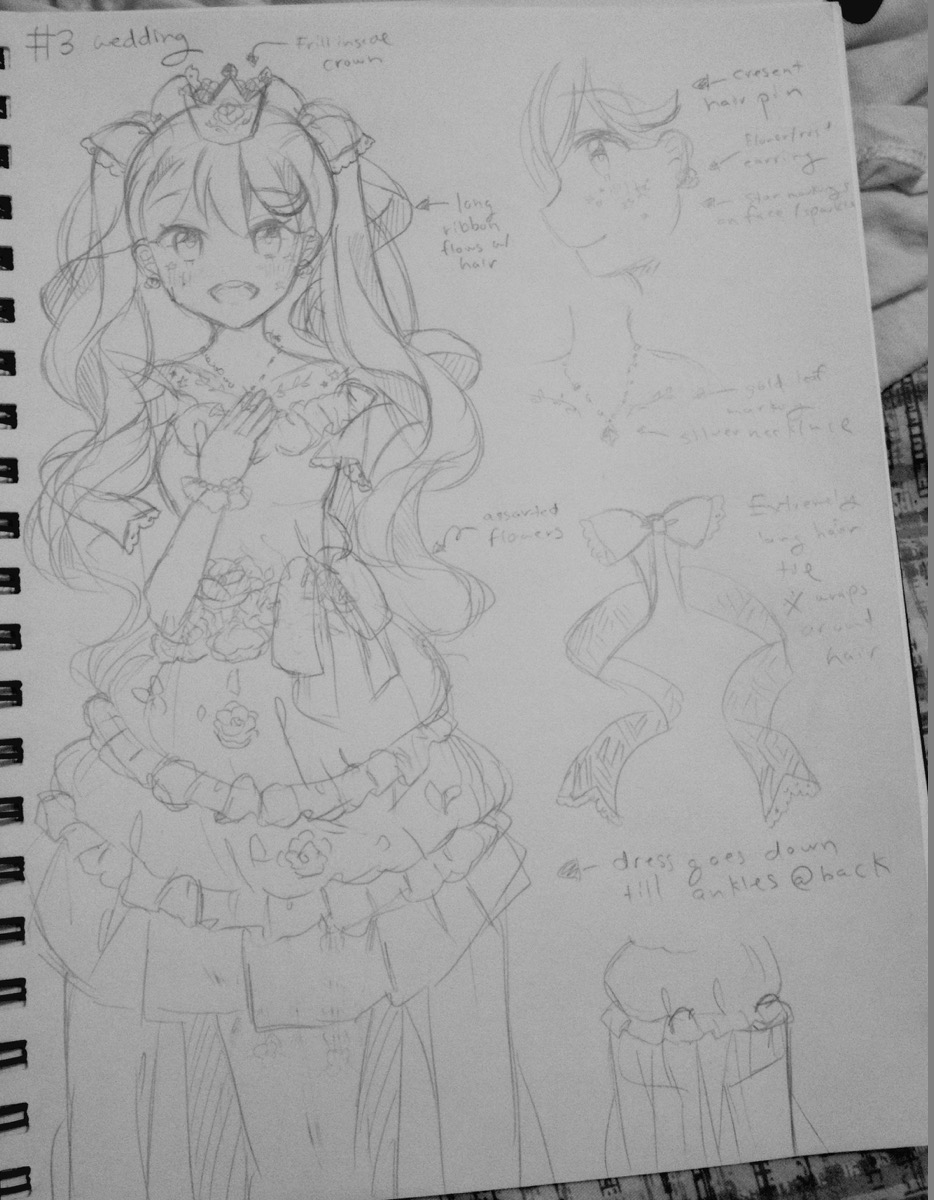 miku KEIKI night princess sketches 3 wedding.jpg