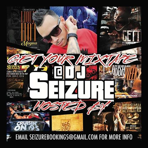 Take your mixtape to the next level with Professional Production and hosting from DJ Seizure.  We take pride in our work and go those extra steps to give you the best quality, production and hosting possible. DJ Seizure is a 3 Time Diamond Award Winning DJ, who is also the official DJ of Huge Music Miami. We offer special packages that suit your budget and we work with you one on one to take your projects to a whole new level Please do not hesitate to contact us at seizurebookings@gmail.com or djseizure@gmail.com. We look forward to working with you.