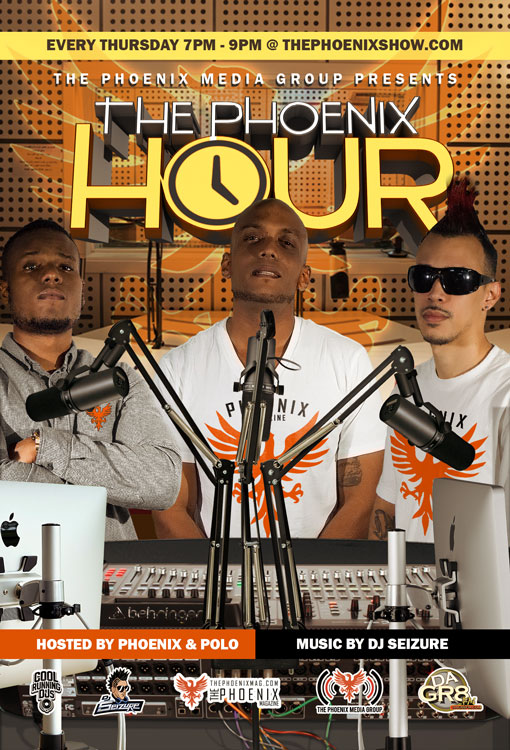 Make Sure To Tune Every Thursday 7-9pm For The Phoenix Hour On @dagr8fm As We Bring You The Latest Music/News Coming From The Entertainment World Hosted By Phoenix & DJ Polo | Music by DJ Seizure