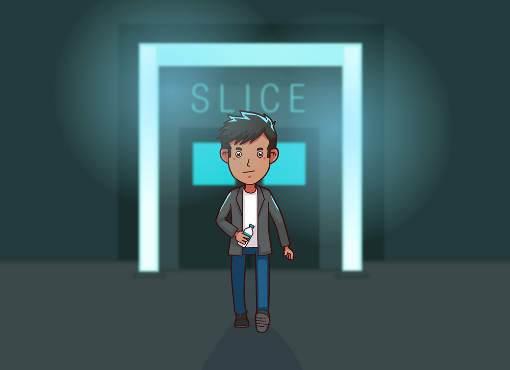 Reevaldo leaving Slice around four in the morning!