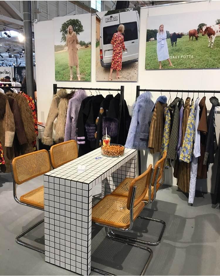 saks potts at revolver -copenhagen international fashion trade show.
