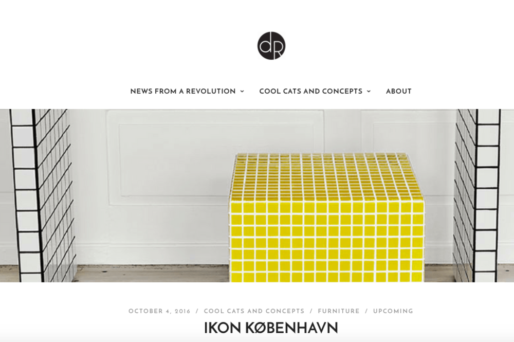 Designrevolution wrote an article about ikon københavn - read the article  here