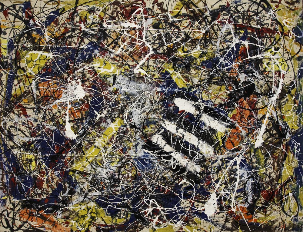 Jackson Pollock, Number 17A (oil on fiberbroad, 1948). The painting provides for a a more accurate description of how Brexit will actually look like.