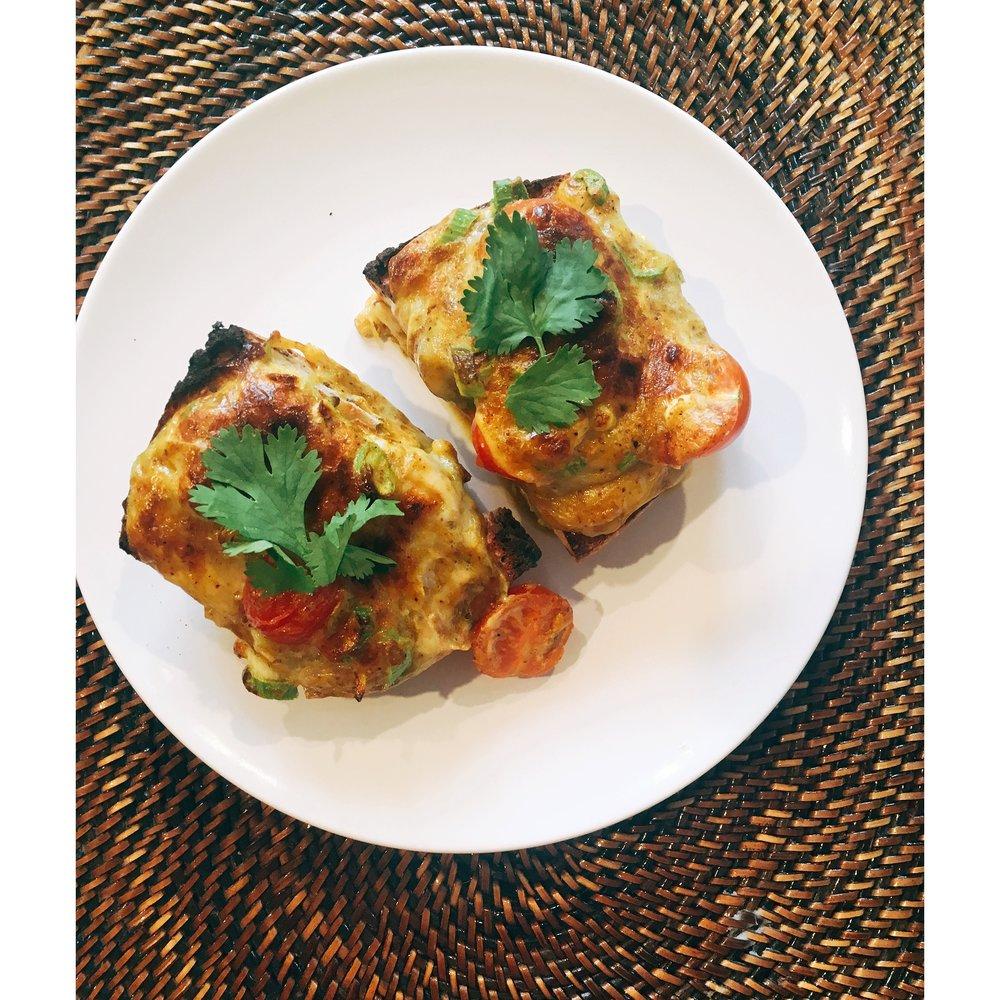 Mega lux Sri Lankan cheese on toast