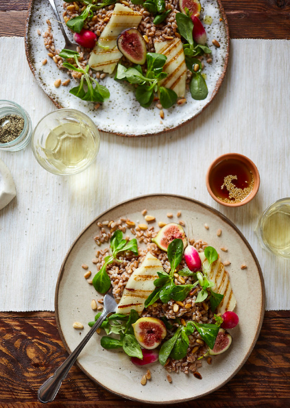Halloumi, Fig + Bulgar Salad