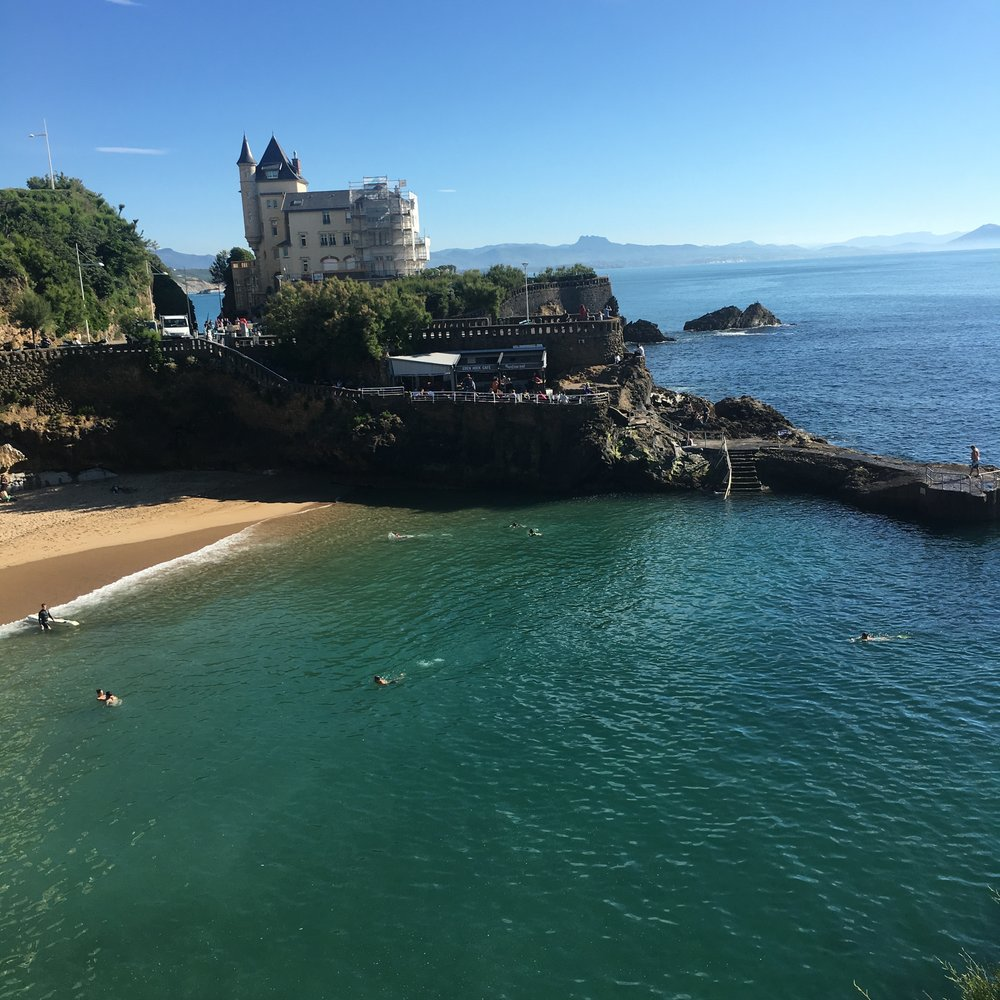 Villa Belza and the Port Vieux, Biarritz.