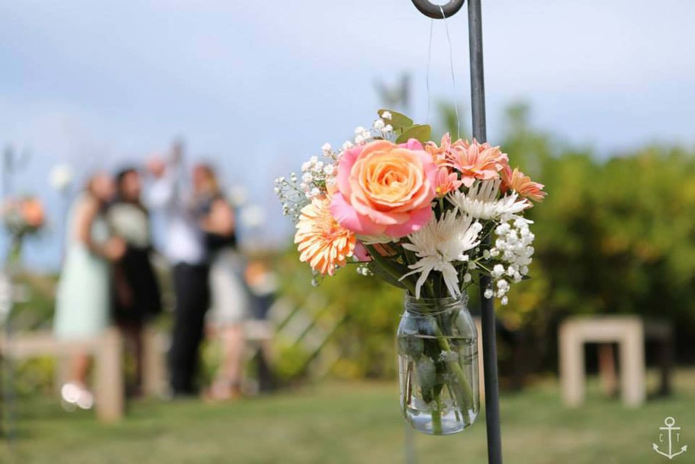 Its all in the wedding flower styling details to make your festival wedding come to life!