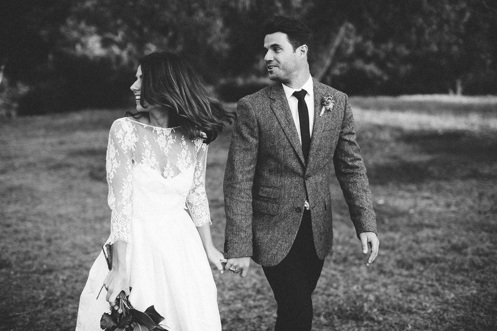 A very happy festival wedding couple! so chic!