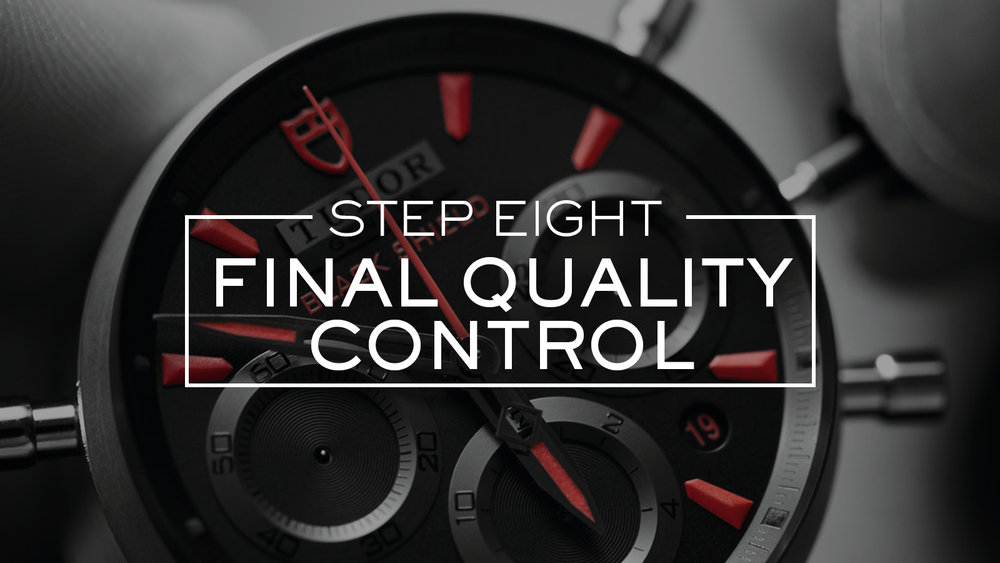 Rigorous quality control are carried out at each stage of the servicing process. During the final quality control, the power reserve, timing precision and aesthetic appearance of your watch are verified yet again to guarantee that your Tudor watch is of the highest quality standard.