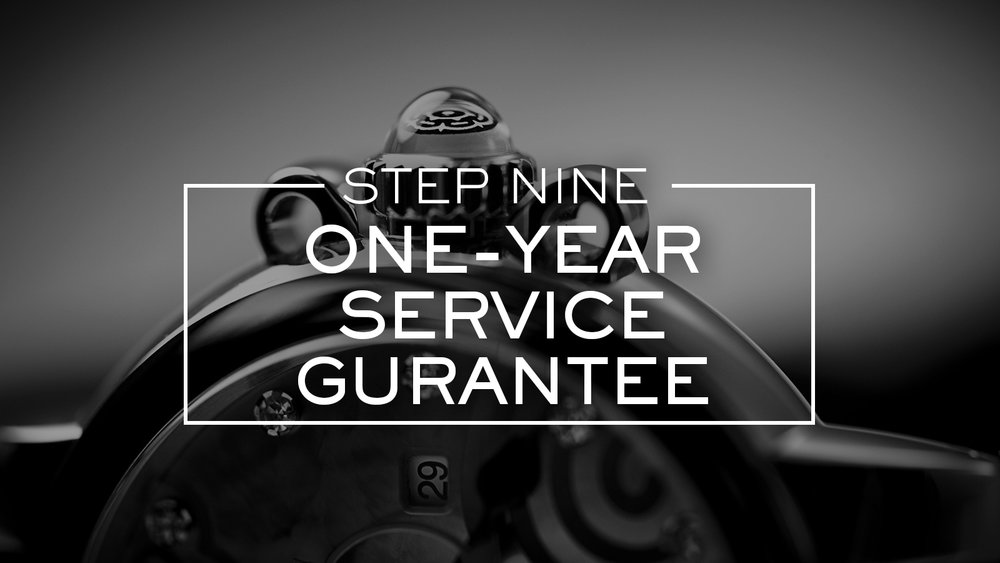 After a complete service your Tudor watch is covered by a one-year Service Guarantee. This guarantee does not cover any damage or deterioration that results from the accidental damage or inappropriate use of the watch. Any intervention by a non-Tudor-authorized third party, or the addition of any non-Tudor parts or accessories, will void the Service Guarantee.
