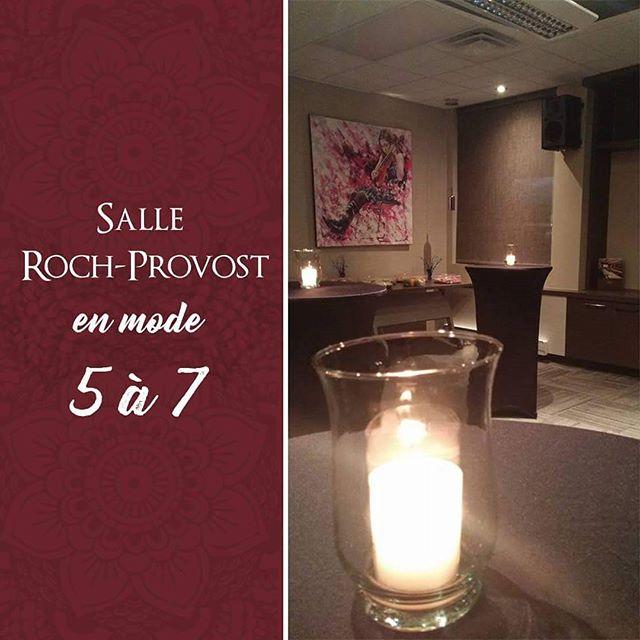 La salle Roch-Provost est idéale pour vos 5 à 7! Quelle ambiance qu'offrent nos tables bistro ! 🥂